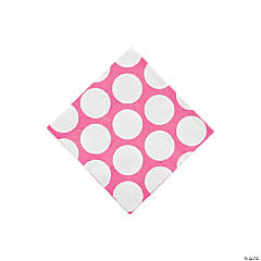 Large Pink Polka Dot Beverage Napkins