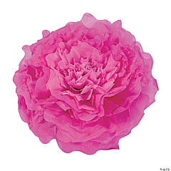 Large Pink Tissue Flower Decorations