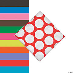 Large Polka Dot Beverage Napkins
