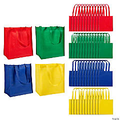 Large Primary Color Shopping Tote Bags