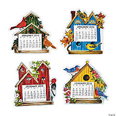 2016 Large Print Birdhouse Calendar Magnets