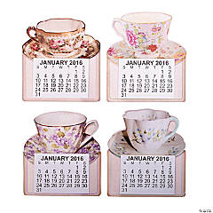 2016 Large Print Tea Cup Calendar Magnets