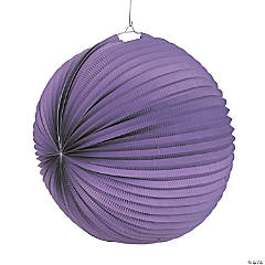 Large Purple Hanging Paper Lanterns