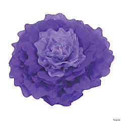 Large Purple Tissue Flower Decorations