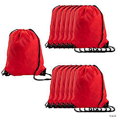 Large Red Drawstring Bags