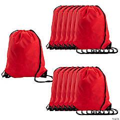 Large Red Drawstring Bags