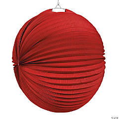 Large Red Hanging Paper Lanterns