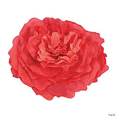 Large Red Tissue Flower Decorations