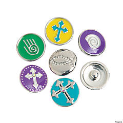 Large Religious Snap Beads- 20mm