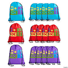 Large Religious Symbols Drawstring Bags