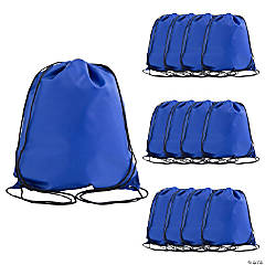 Large Royal Blue Drawstring Bags