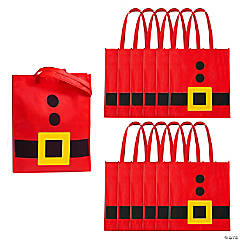 Large Santa Belt Laminated Totes