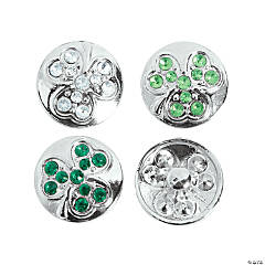 Large Shamrock Snap Beads - 22mm