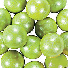 Large Shimmer Lime Green Gumballs