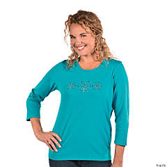 Large Snowflake T-Shirt For Women