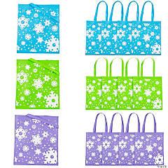 Large Snowflake Tote Bags
