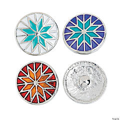 Large Star Quilt Pattern Snap Beads - 20mm