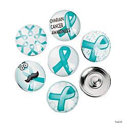 Large Teal Awareness Ribbon Snap Beads