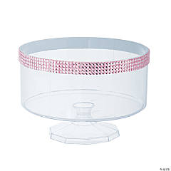 Large Trifle Container with Pink Gem Trim