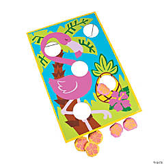 Large Tropical Luau Bean Bag Toss Game