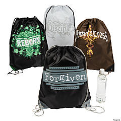 Large Tween Religious Drawstring Bags