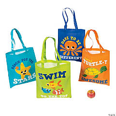 Large Under the Sea Tote Bags