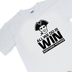 Large White Custom Photo Team Spirit T-Shirt - Win