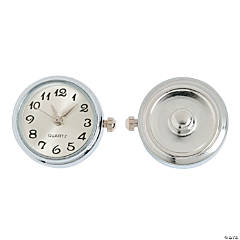 Large White Watch Snap Bead - 22mm