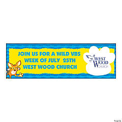 Large Wild Wonders Custom Photo VBS Banner