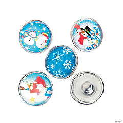 Large Winter Snap Beads - 18mm