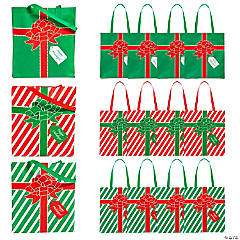 Large Wrapped Christmas Present Tote Bags