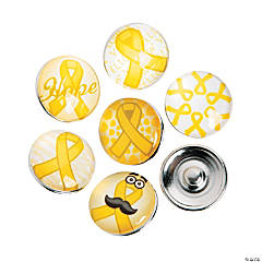 Large Yellow Awareness Snap Beads