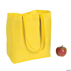Large Yellow Shopper Tote Bags