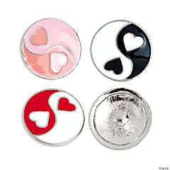 Large Yin Yang Snap Beads - 20mm