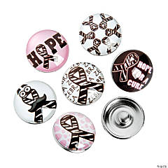 Large Zebra Awareness Ribbon Snap Beads