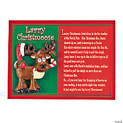 """Larry Christmoose"" Christmas Moose Pins with Card"