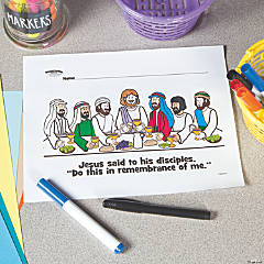 Last Supper Free Printable Coloring Page