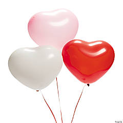 Latex Heart-Shaped Balloons