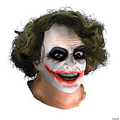 Latex Joker™ Mask with Hair