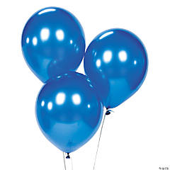 Latex Metallic Navy Balloons
