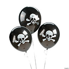 Latex Skull & Crossbones Balloons