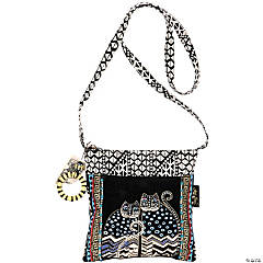 Laurel Burch Crossbody Tote Zipper Top 10