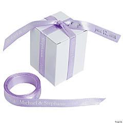 "Lavender Personalized Ribbon - 3/8"""