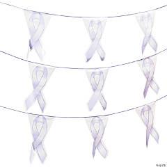 Lavender Ribbon Plastic Pennant Banner