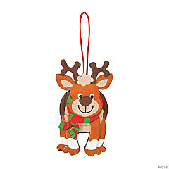 Layered Christmas Reindeer Ornament Craft Kit