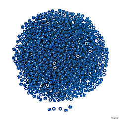 1/2 Lb. of Blue Pony Beads