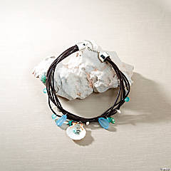 Leather Beach Necklace Idea
