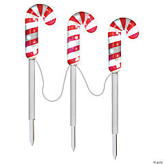LED Candy Cane Yard Stakes