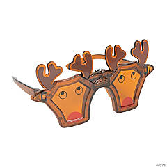 LED Light-Up Reindeer Novelty Glasses