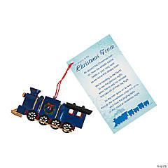 Legend of the Christmas Train Ornaments with Card